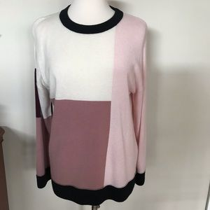 Kate spade color block wool pullover sweater